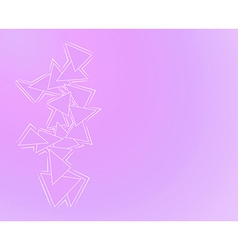 purple background with triangles vector image