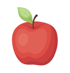 Red apple snack at school lunch at the break vector