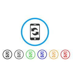 Refresh smartphone rounded icon vector