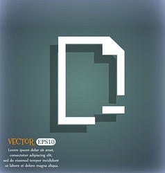 Remove folder icon on the blue-green abstract vector