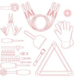 Road kit set vector