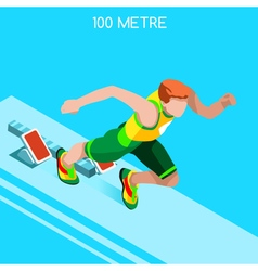 Running 2016 Summer Games Isometric 3D vector image vector image