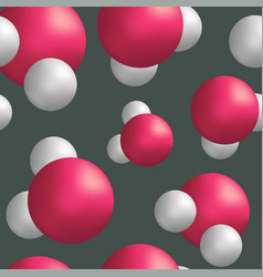 seamless pattern water molecules vector image