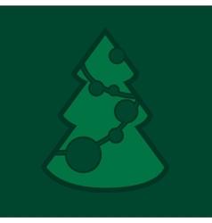 Snpw Christmas tree vector image vector image