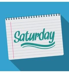 Spiral calendar saturday notebook notepad long vector image vector image