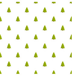 Spruce tree pattern seamless vector