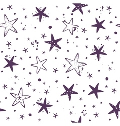 Star seamless background vector image vector image