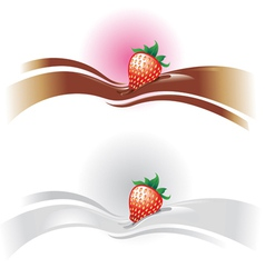 strawberrywave vector image vector image