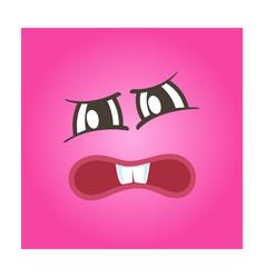 Terrible smiley face icon vector