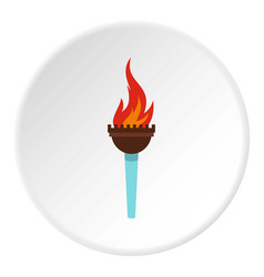 Torch icon circle vector