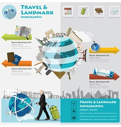 Travel and journey landmark infographic vector