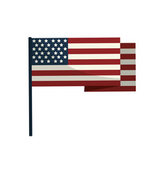 usa flag to celebrate holiday patriotic vector image vector image