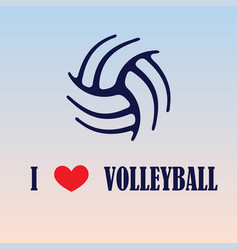 Volleyball love background vector