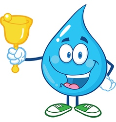 Water droplet cartoon character vector image vector image