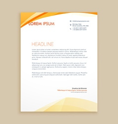 wavy business letterhead design vector image vector image