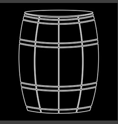 wine or beer barrels white color path icon vector image vector image