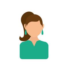women faceless profile vector image vector image