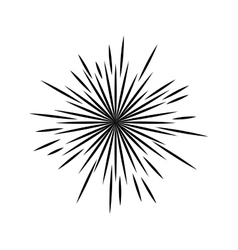 sunburst decoration design vector image