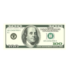 Detailed dollar banknote isolated on white vector