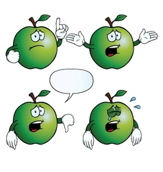 Crying apple set vector