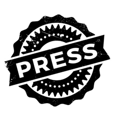 Press stamp rubber grunge vector