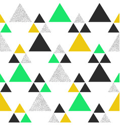 Green and yellow geometric triangle background vector