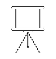 Business presentation board the black color icon vector