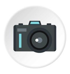 Photocamera icon circle vector