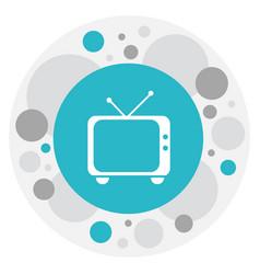 of movie symbol on retro tv vector image