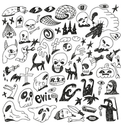 Monsters - doodles set vector