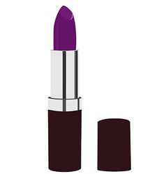 Purple lipstick vector