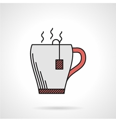 Elegant teacup flat color icon vector