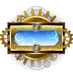 Banner with gears on a white background vector