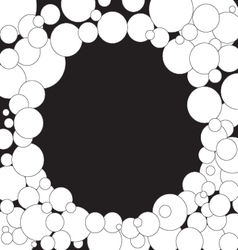 Bubbles background black and white vector