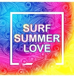 Here comes the summer typographic poster vector