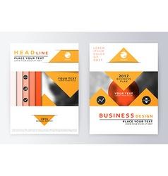 Annual Report Brochure vector image