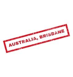 Australia brisbane rubber stamp vector