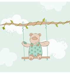 Baby Shower Card - with Baby Bear vector image vector image