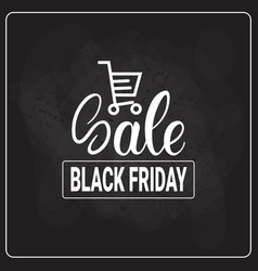 Black friday shopping cart on holiday sale logo vector