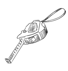 Black yardstick on a white vector image