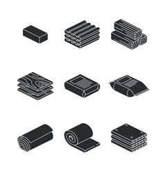 Building and contruction materials icons set on vector