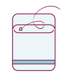 dental floss isolated icon vector image vector image