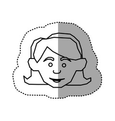 Face happy woman icon vector