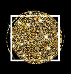 Festive golden luminous background vector