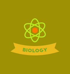 flat icon on background biology molecule vector image