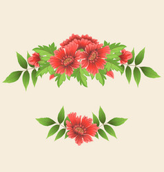 Floral design element for page vector