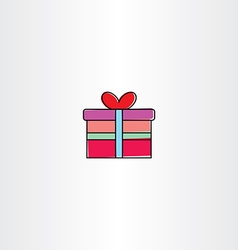 gift box icon symbol vector image vector image