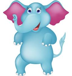 Happy elephant cartoon vector image vector image