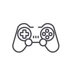joystickgamepad line icon sign vector image