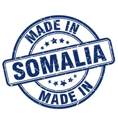 made in somalia blue grunge round stamp vector image vector image